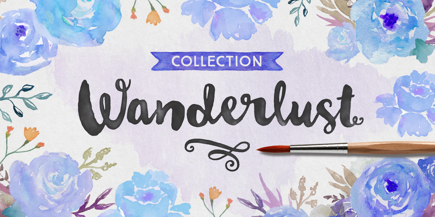 Wanderlust Collection Font