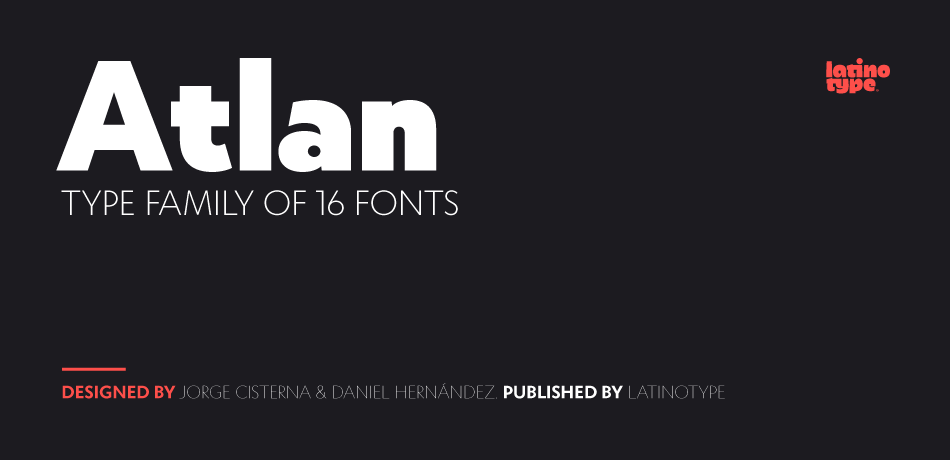 Atlan Font by Latinotype