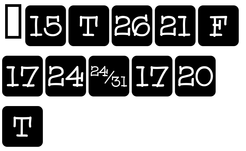 Calendar Typography Generator : Fonts calendar font three by gerald gallo hypefortype