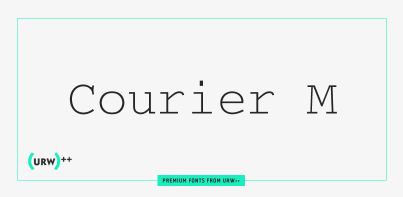 Courier M