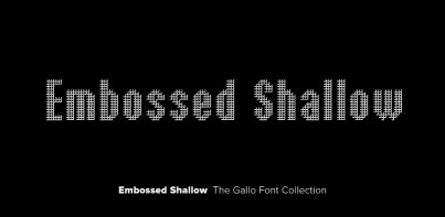 Embossed Shallow