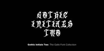 Gothic Initials Two