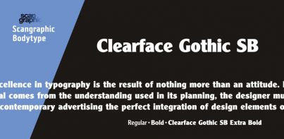 Clearface Gothic SB