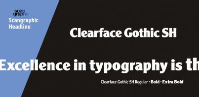 Clearface Gothic SH