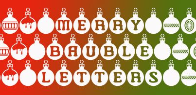 Merry Bauble Letters