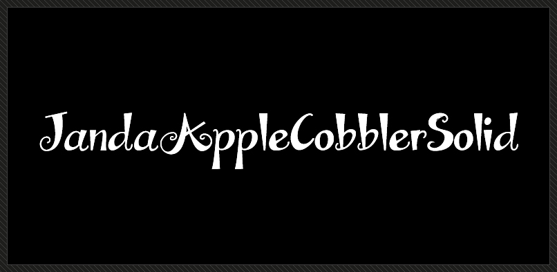 Fonts Janda Apple Cobbler Solid By Kimberly Geswein Hypefortype Font Shop